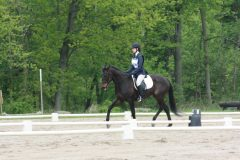 Olivia competes with OTTB Gracie