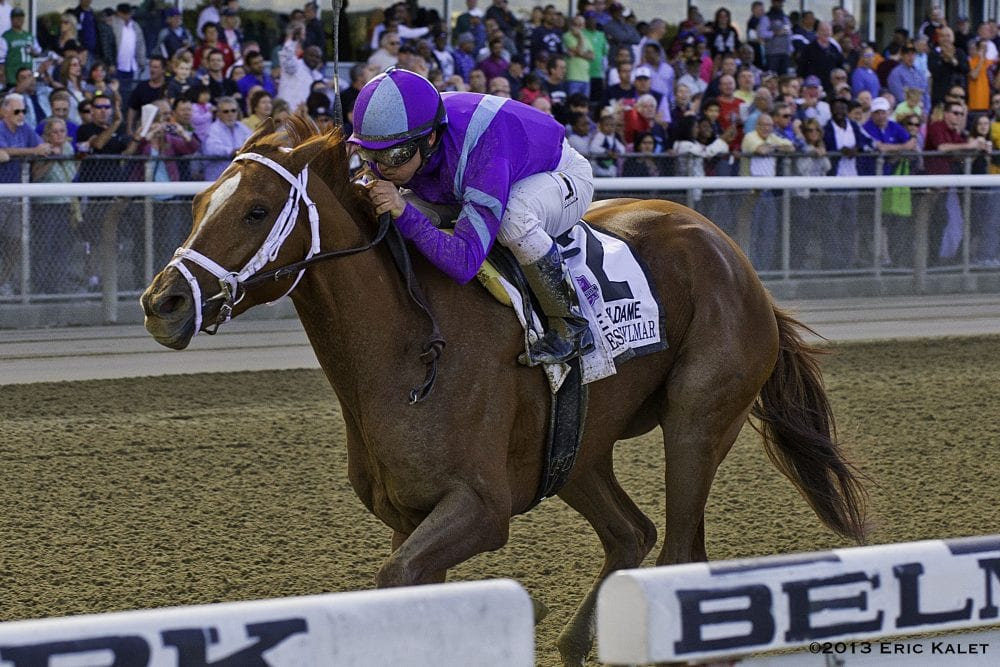 Princess of Sylmar cruises home in the Beldame Stakes
