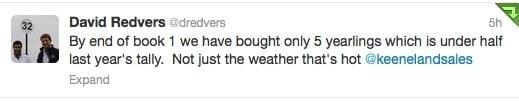 Redvers Tweet