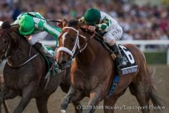 Mucho Macho Man and Will Take Charge, who finished noses apart in the Breeders' Cup Classic, meet again Saturday