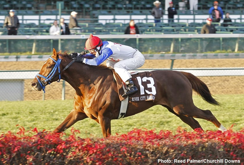 Potomac River in the Grade 3 River City Handicap at Churchill Downs