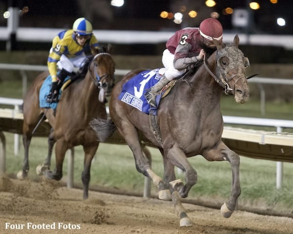 Last Gunfighter wins the Grade 2 Hawthorne Gold Cup Handicap