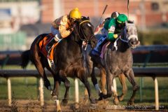 Vexed charges past Stonetastic to win the Golden Rod Stakes at Churchill Downs