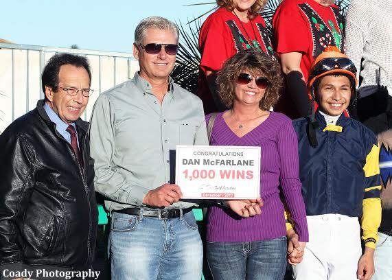 Turf Paradise Trainer Dan Mcfarlane Captures 1 000th Win