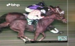 The final race at Hollywood Park came down to a close photo finish, with Woodmans Luck ending a 17-race losing streak to get the win over Depreciable