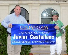 Javier Castellano sets the single-season earning record on Dec. 13, 2013