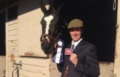 Carl O'Callaghan with retired racehorse Kinsale King, now a show jumper