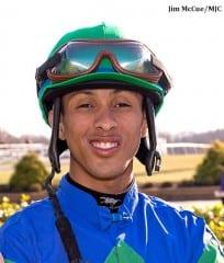 Victor Carrasco, winner of the 2013 Eclipse Award for apprentice jockey
