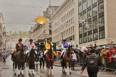 The group of OTTBs greets the London crowd on New Year's Day