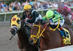 Wildcat Red (rail) battles General a Rod to the wire in the Fountain of Youth