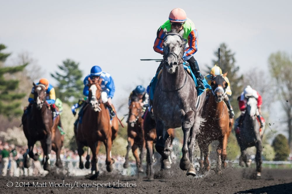 Frac Daddy wins the Grade 3 Ben Ali Stakes at Keeneland on April 19.