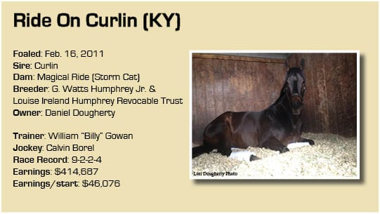 Ride On Curlin graphic a