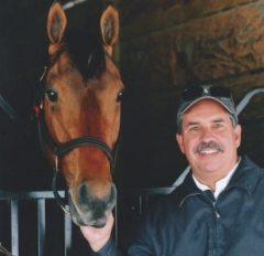 Trainer Jose Garoffallo and Wildcat Red
