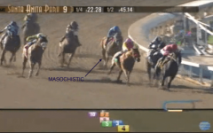 California stewards were concerned about the ride given to Masochistic in his debut