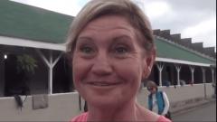 Bridget Lambert, assistant trainer/groom for Ride On Curlin