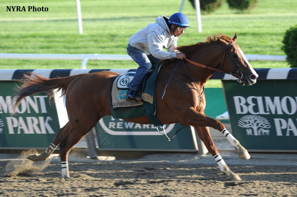 California Chrome Had Just One Timed Workout Between The Preakness And Belmont