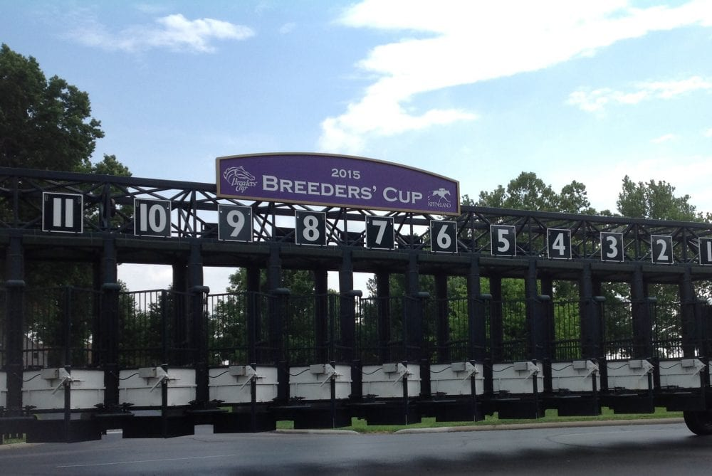 Keeneland BreedersCup starting gate