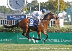 Heart to Heart cruises in the Jefferson Cup at Churchill in 2014.