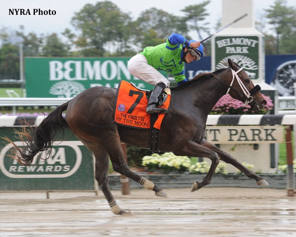 Juvenile Fillies By The Moon Springs Upset In Muddy