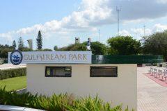 Gulfstream Park West winner's circle