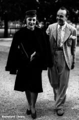 Isabelle Dodge Sloane, pictured with Randolph Hurst at Belmont, 1933