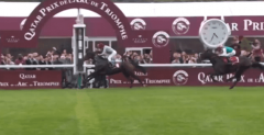 Treve flies home to win the 2014 Prix de l'Arc de Triomphe.