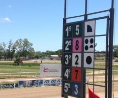 The order of finish and margins displayed at Las Piedras in Uruguay