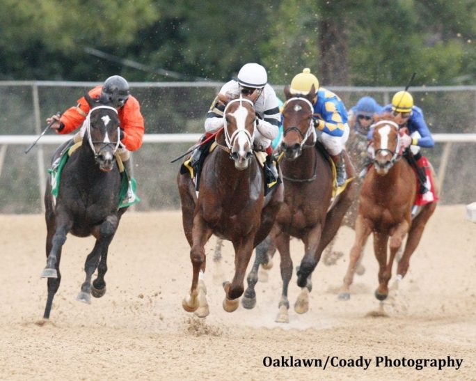 Take Charge Brandi leads her rivals into the Oaklawn Park stretch