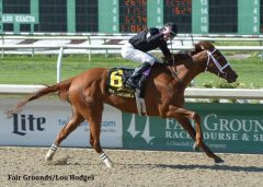 I'm a Chatterbox scores another stakes victory in the Fair Grounds Oaks.