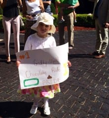 The Wentworth family came prepared to cheer their first Thoroughbred on