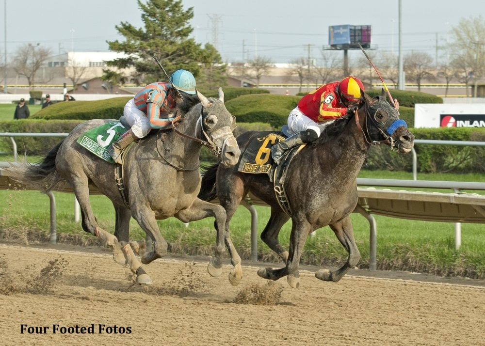 Whiskey Ticket Just Holds On For Illinois Derby Triumph