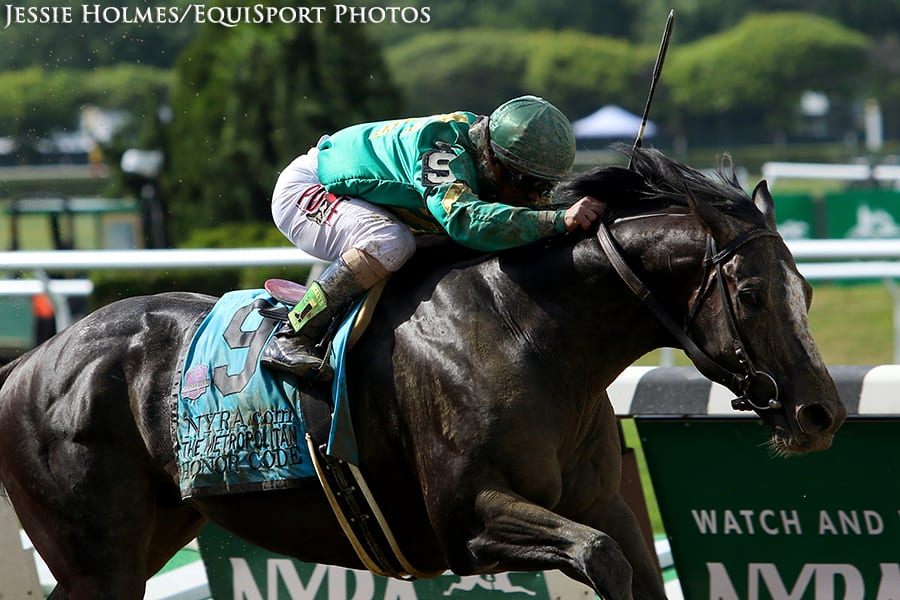 Honor Code Last To First To Take Swift Met Mile Horse