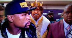 Burger King reportedly paid $1 million for this appearance at the Mayweather-Pacquiao fight
