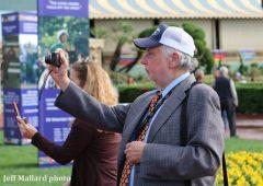Steve Haskin at Santa Anita Park for the Breeders' Cup