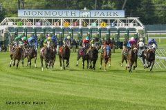 Racing at Monmouth Park