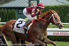 Sheer Drama wins the Personal Ensign (Gr I) at Saratoga