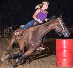 """Ego"" has shown quite a talent for barrel racing"