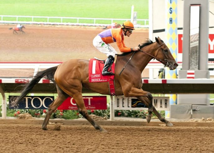 Beholder is back to defend her title in the Clement L. Hirsch at Del Mar.