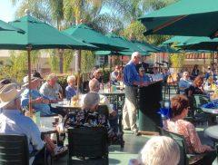 Joe Morris, president of TOC, addressing annual membership meeting