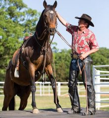 """We want people to learn good horsemanship and to teach people to understand their Thoroughbreds,"" says Dallas"