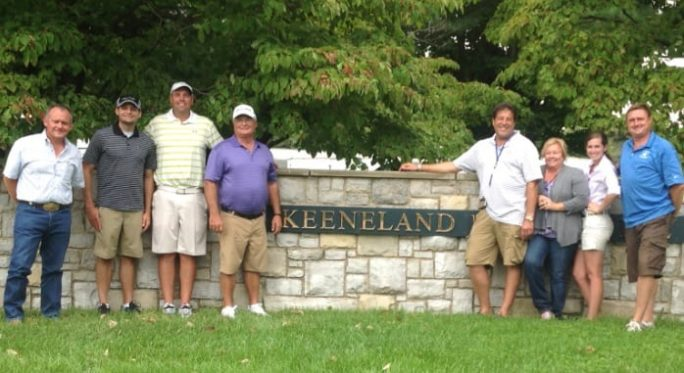 The Albaugh Family Stables team at the 2014 Keeneland Sept. Sale