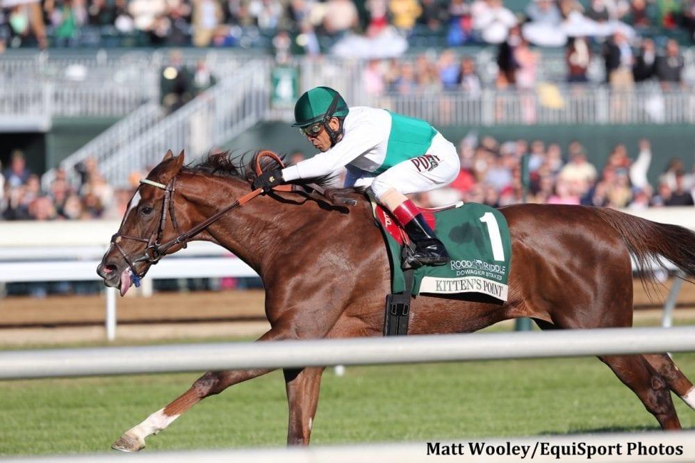 Kitten S Point Kicks Clear For Dowager Score Horse