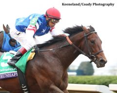 Runhappy shown winning the Breeders' Cup Sprint.
