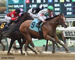Palace takes the Hudson Handicap on Empire Showcase Day at Belmont Park.