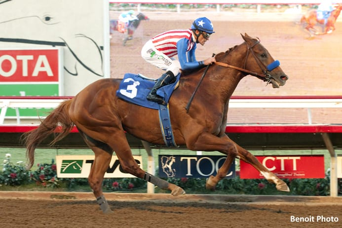 Dortmund won his fourth graded stakes of 2015 in the Native Diver.