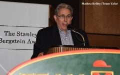 Jeff Gural speaks at the Stanley Bergstein Award dinner.