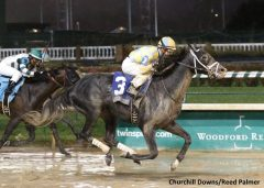 Airoforce, seen here winning the Kentucky Jockey Club Stakes