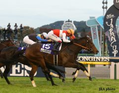 Shonan Pandora (daughter of Deep Impact, by Sunday Silence) wins the Japan Cup