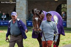 Castaneda, left, with My Sweet Addiction, has been a mainstay in the Jones family stable through three generations
