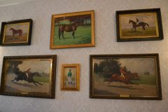 Portraits of Miss Woodford and Hanover are among those hanging in the entryway of the historic Clay home